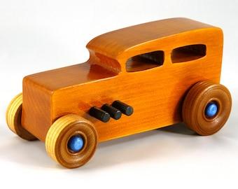 Wooden Toy Car, Hot Rod, 1932 Ford Sedan, Tudor, Fordor, Race Car, Street Rod, Dragster, Speedster, Wood Toy, Boys Toys, Girls Toys, Toy Car