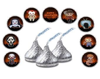 "108 Halloween labels - Hersheys Kisses Labels - 0.75"""