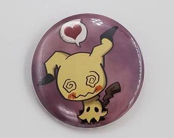Pokemon Mimikyu 1.5 inch Button Sun and Moon