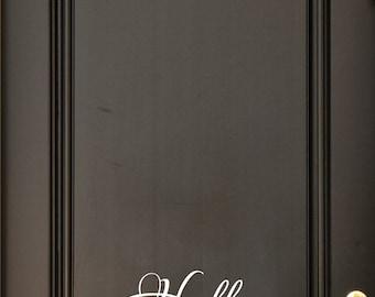 Hello Door Decal - Welcome Decal  - Door Decals - Wall Decals - Door Decor -Font Options