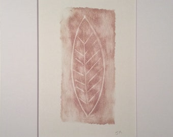 Red Leaf | Hand Pulled Print
