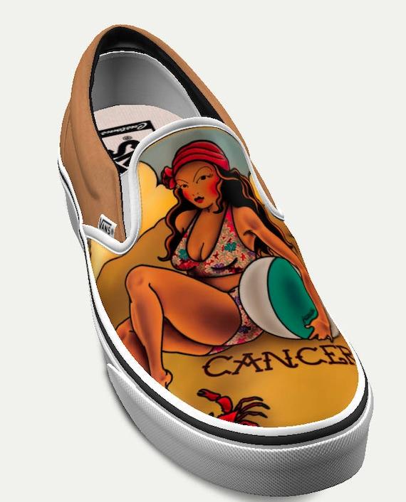 Cancer: Limited Edition Horoscope Custom Vans (Women's)