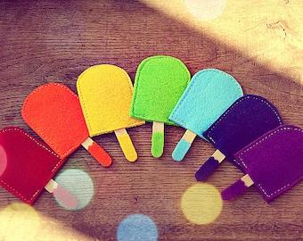 Montessori Toys - Felt Popsicle - Montessori Toddler - Montessori Baby -Color Matching Game -Montessori practical life -Montessori Materials