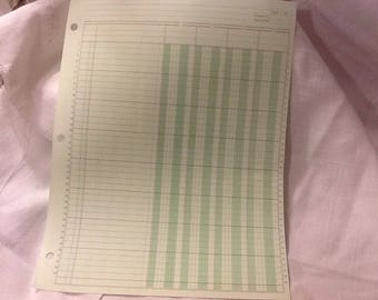 10 sheets ledger paper