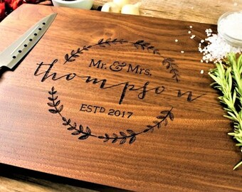 Personalized cutting board-66, Engraved cutting board,Personalized wedding gift,wedding gift for couples, housewarming gift, engagement gift