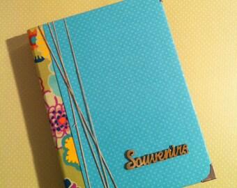 Fabric, wood and paper memories Binder