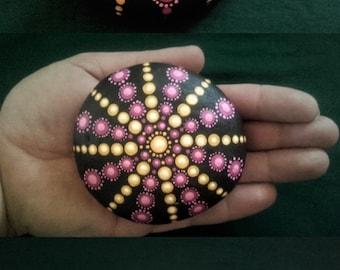 mantlala dot painting stone