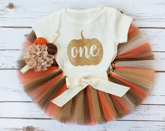 "Pumpkin birthday ""Tashia"" Pumpkin first birthday fall first birthday first birthday outfit girl little pumpkin birthday 1st birthday tutu"