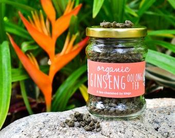 Ginseng Oolong Tea in a JAR - A Royal Favorite/ Organic Herbal Tea from Thailand / Fair-trade Tea / Naturally Sourced Tea / Organic Tea