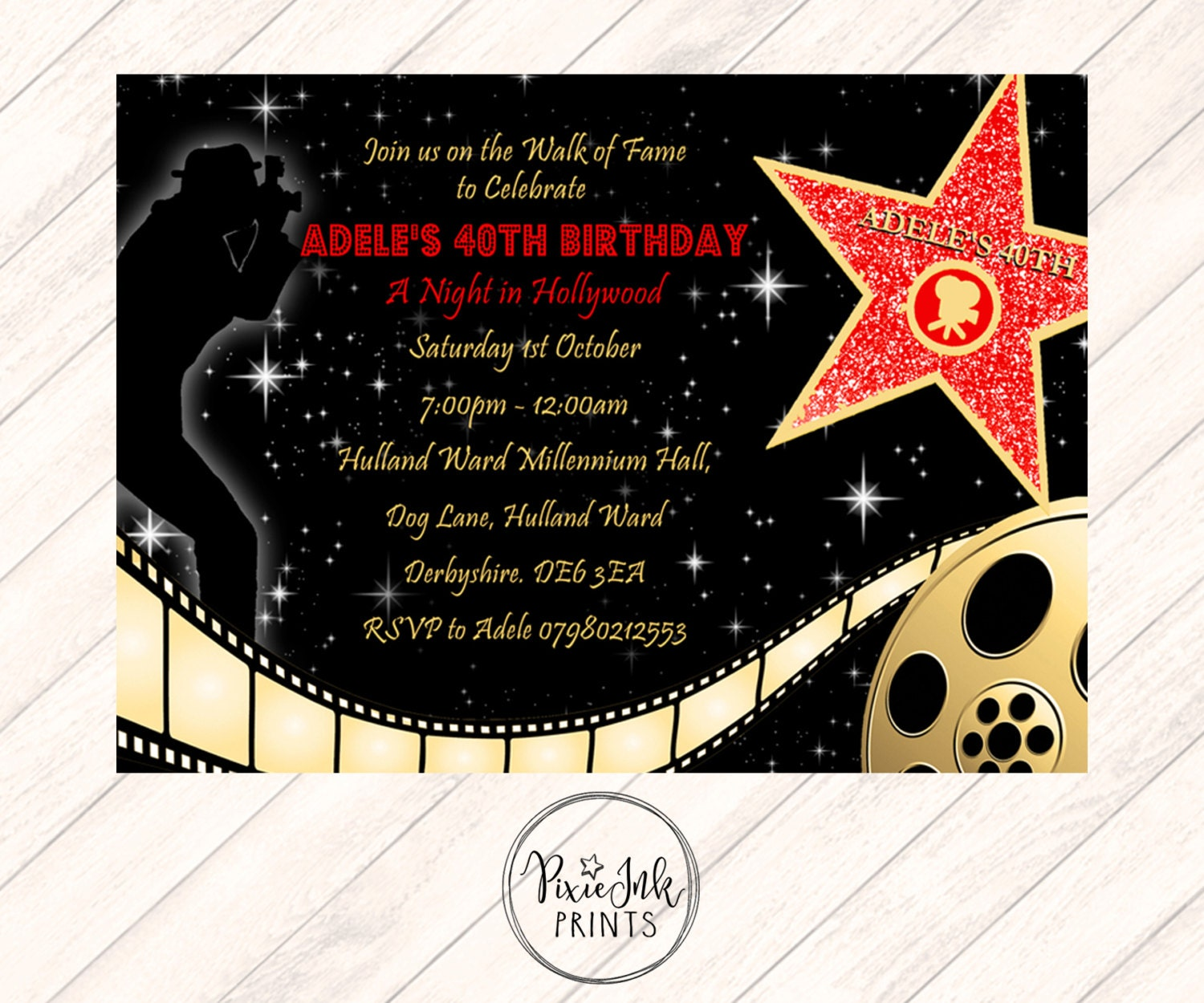 Red Carpet Invitation Hollywood Party Invite Red Carpet
