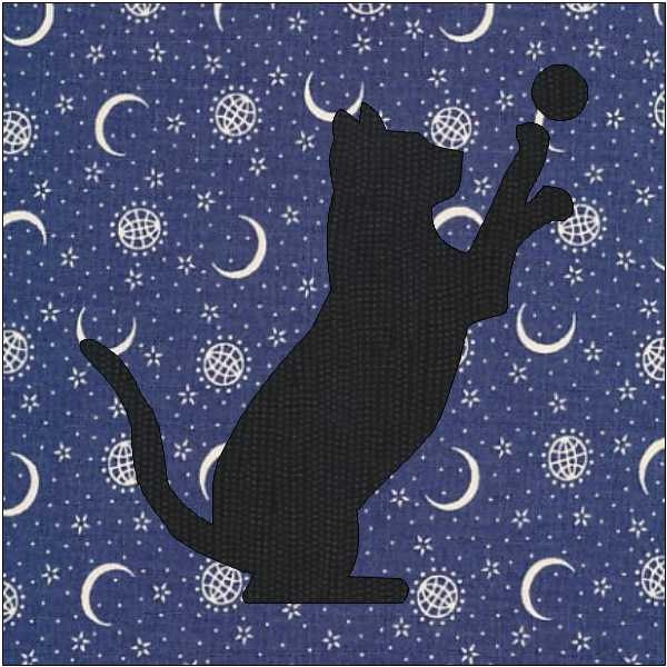 Cat Silhouette Pattern Cat Quilt Block Quilt Appliqué : free cat quilt patterns download - Adamdwight.com