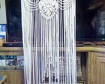 Butterfly Curtain Combo Made in Macrame Fiber Art Wall Decor Made by Craft Flaire