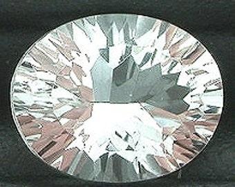 10x8 laser concave oval cut white topaz gem gemstone