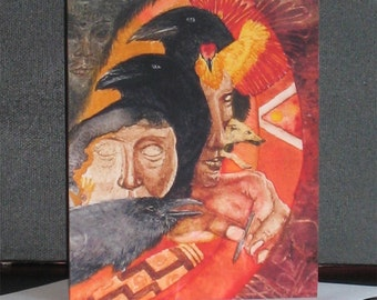 Note Card Strong Crow Medicine Native Image