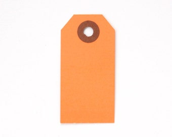 25 Orange Parcel Tags, Little Shipping Tags