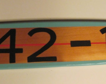 Personalized Surfboard Address Number Road Street Marker Sign Longboard Design