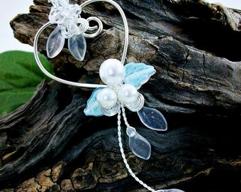Winter Heart Wedding Necklace Withywindle Collection