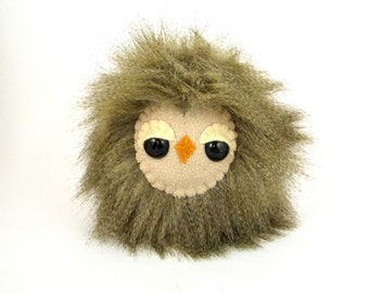 Cute Owl Plushie Toy Woodland Animal Stuffed Animal Plush Toy Owl Kawaii Plushies Snuggly Faux Fur Feathers Sleepy Owl Toy Bird