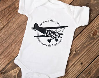 Personalized Vintage Airplane One-Piece