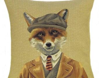 Fox Decor - Fox Pillow Cover - Fox Lover Gift - Funny Fox - 18x18 Belgian Tapestry Pillowcasde - PC-5621