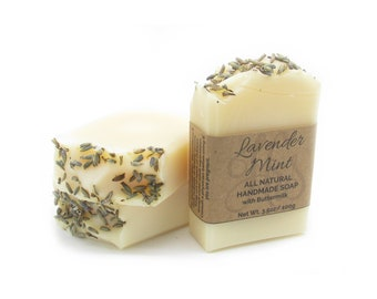Lavender Mint All Natural Herbal Soap | Buttermilk Soap | Handmade Soap | Natural Soap | Lavender Soap | Peppermint Soap | Soap Gift