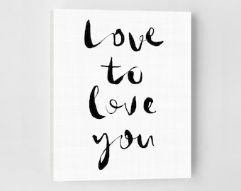 Love Poster, Love Print, Modern Bedroom, Bedroom Art, Modern Bedroom Decor, Love Art Print, Love Typography Print, Bedroom Love Art Print