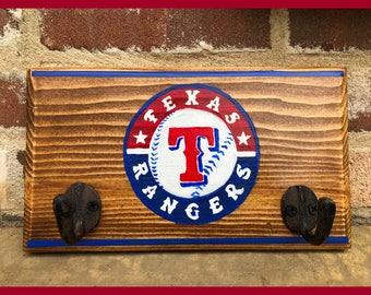 T. Rangers Key Rack, College Graduation Gift, Wedding Gift, House Warming Gift