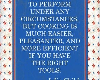 "Julia Child, Tools print - 10"" x 16"""