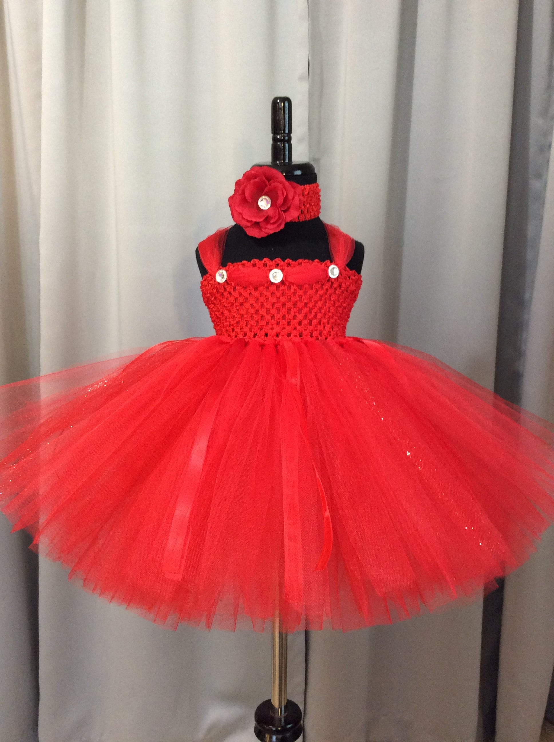Red fairy tutu dress w/matching headband and wings; birthday outfit; red fairy costume for babies; red fairy costume for little girls & Red fairy tutu dress w/matching headband and wings; birthday outfit ...