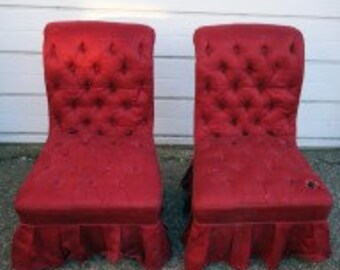 2 Antique French Occasional Chairs