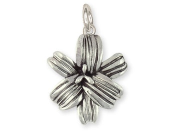 Sterling Silver Handmade Lily Flower Charm Jewelry LLY-C