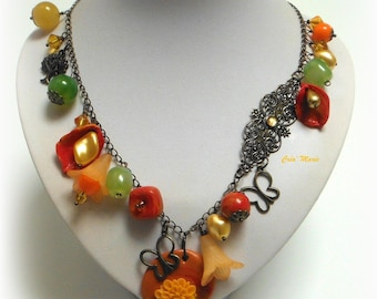 CREOLE atmosphere - Necklace in warm colors