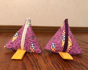 Triangle pouch - Umbrella print
