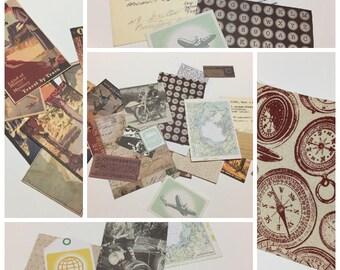 Travel Theme Mystery Box // Travel Set, Sending Letters, Scrapbook, Junk Journal Set, Mystery Box