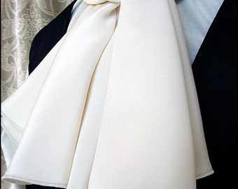 Ivory Silk Ascot by Kambriel - Brand New & Ready to Ship!