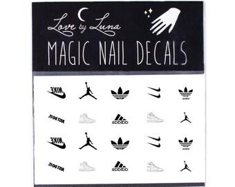 Air Jordan Nail Decal / Nike Nail Decal / Adidas Nails / Athletic / Sports Brands / Sporty / Nail Wraps / Nail Tattoo / Nail Design