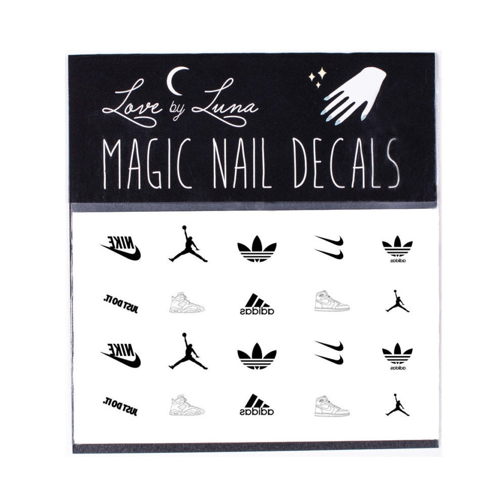 Air Jordan Nail Decal / Nike Nail Decal / Adidas Nails /