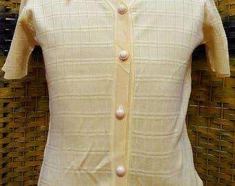Vintage JANTZEN knitwear / full button up / for women / Large size for women