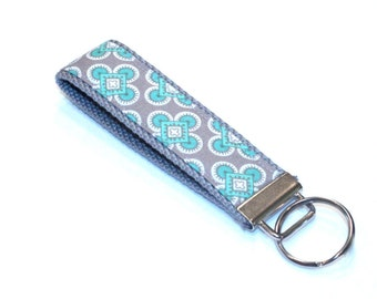 Fabric Key Fob, Key Chain, Key Ring, Key Holder, Wristlet Key Fob, Wristlet Keychain, Fabric Key fobs-