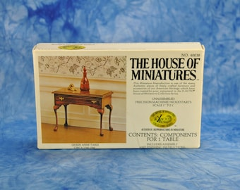Vintage Model, Queen Anne Table, The House, Of Miniatures, 40038, X-ACTO Series, Chippendale, 1980s, Unassembled, USA, winterparkcollect