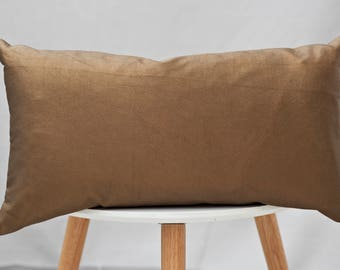 Bronze Leather Cushion, metallic cushion, leather cushion, boudoir cushion, scatter cushion, bronze cushion, accent cushion, throw pillow