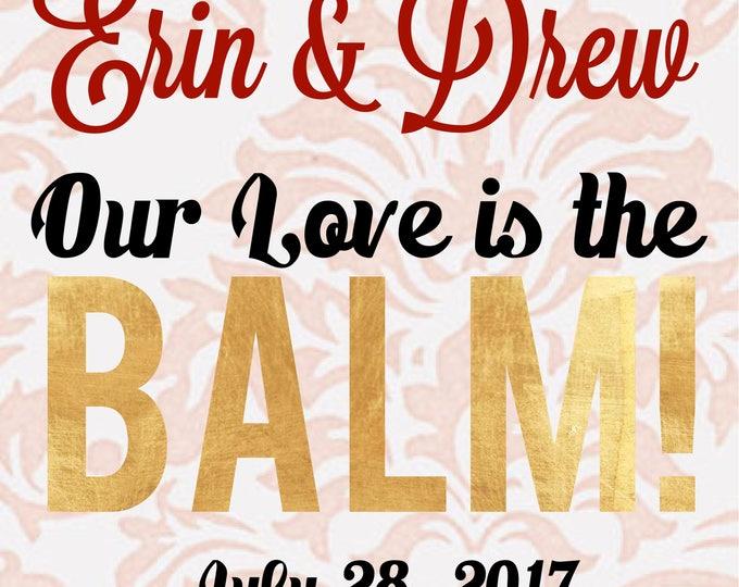 Blush Wedding Lip Balm Favors Wedding Chap Stick, Wedding favors, party favors, lip balm, blush pink, romantic, soft pink, gold, custom