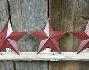 3.5in Barn Star Burgundy