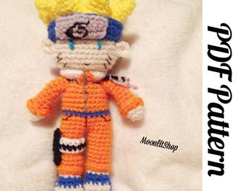 Naruto Inspired Crochet Naruto Uzumaki Amigurumi Doll English PDF Pattern
