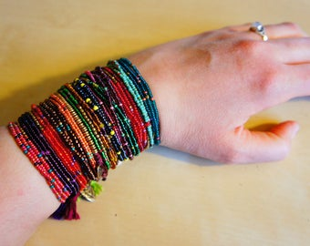 Rocaille small beads friendship Bracelet