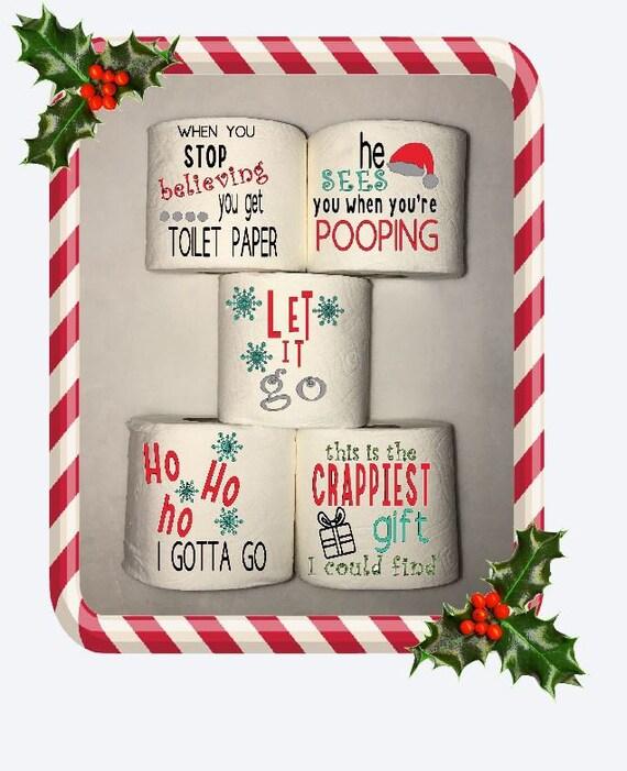 Christmas Toilet Paper Funny Toilet Paper Christmas Gag