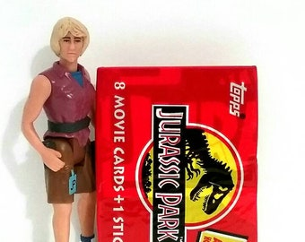 COMBO-Jurassic Park Action Figure and Trading Card Set