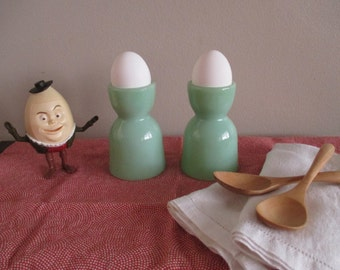 Fire King Jadeite Egg Cups  set of 2