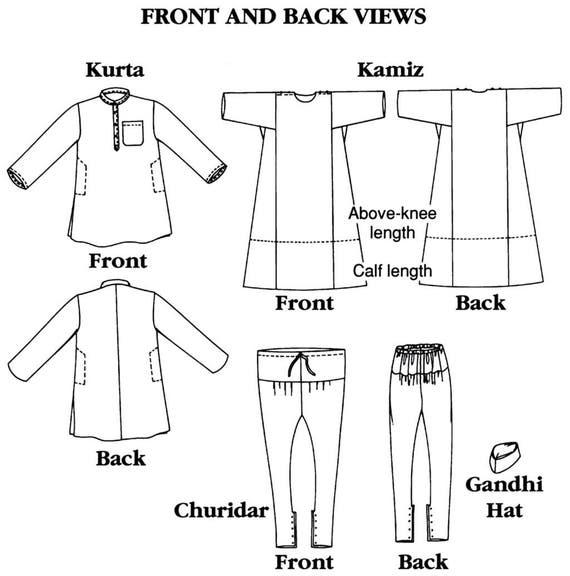 Folkwear Jewels of India Kurta Shirt Kamiz Tunic Churidar