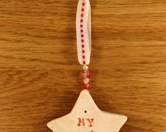 My Star Handmade Pottery, lovely gift, Mothers Day, Fathers Day, Birthday, Thank you, New Baby, Super Hero,  Wedding, Easter etc.